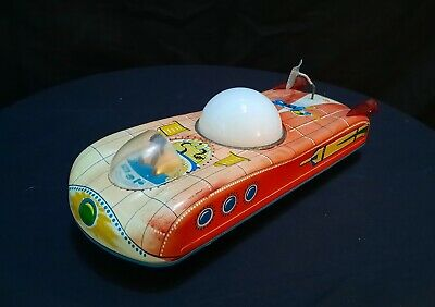 Vintage Hungarian 'HoldAuto' Red Space Car Tin Toy • 24.90£