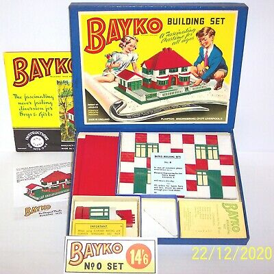 An Original Vintage 1952 Bayko Building Set 0, Boxed And In Excellent Condition. • 79.95£