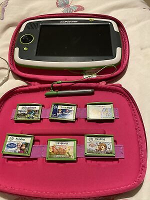 LeapFrog LeapPad Platinum Tablet, Case, Charger And 6 Games (Frozen, Toy Story) • 16£