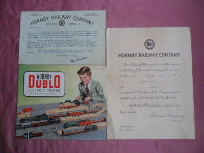 Hornby Dublo Electric Trains Fold Out Catalogue 1953/54 Revised Plus Other Items • 10£