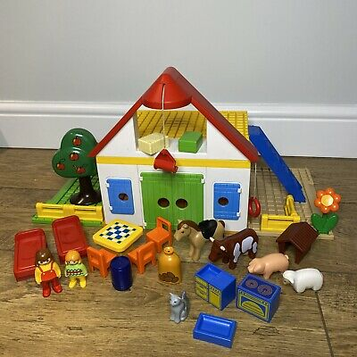 PLAYMOBIL 123 Farm Building 6750 With Animals • 20£