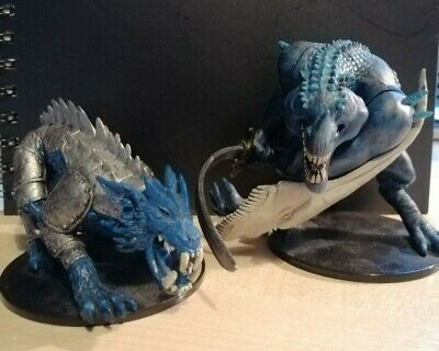 Two D&D Miniatures - Bluespawn Godslayer And Armoured Guulvorg • 6.50£