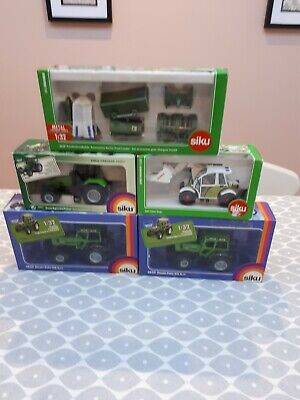 Siku Like Britains Farm Toys Job Lot Of Boxed Tractors And Telehandler  • 57£