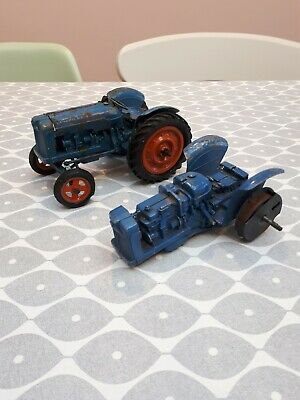2x Chad Valley Fordson Tractors For Repair 1/16 Scale • 25£