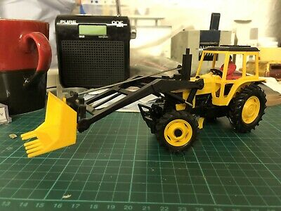 Vintage Britains Autoway Ford 7710 Tractor & Front Digger No.9882 - M/B Unboxed • 20£