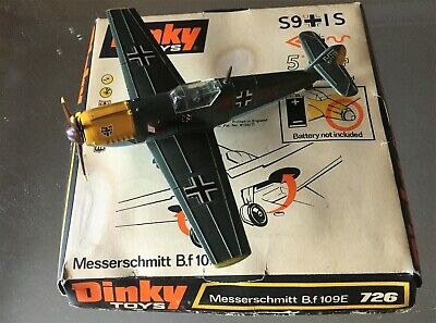 Original Dinky Me 109 European Theatre (the Green 109) With Engine Working • 74£