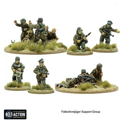 Fallschirmjager Support Group, Mortar, MMG, HQ, Medic Bolt Action, Warlord Games • 16£