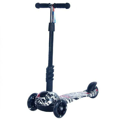 Kids Scooter 3 Wheel With LED Wheels Removable T-Bar Chameleon Tri Scooter • 18.10£