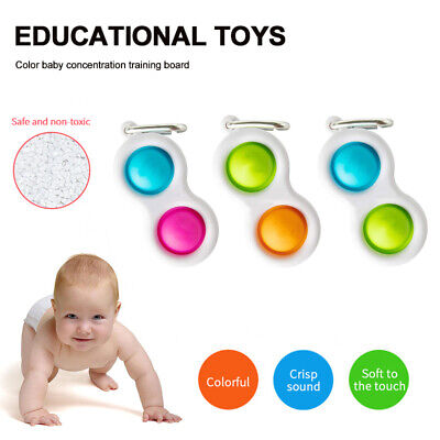 Baby Simple Dimple Sensory Toys-Silicone Board Brain Teasers UK • 3.99£