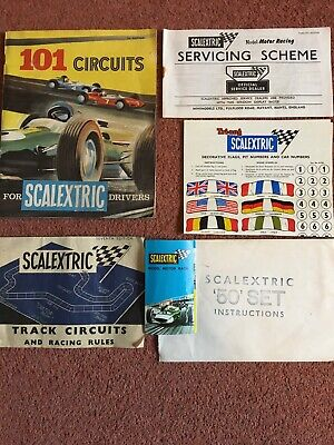 101 Circuits For Scalextric Drivers, Plus Marketing And Manuals • 4.99£