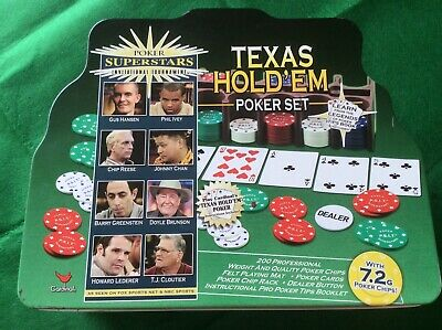 Texas Hold'em Poker Set With 200 Quality Chips • 7.50£