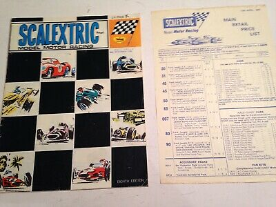 Vintage Scalextric Catalogue Eighth Edition 1967 & Main Retail Price List • 9.95£