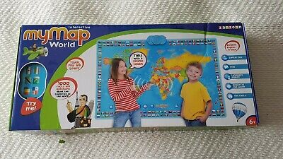 Interactive My Map World Educational Talking Toy Geography 1000 Facts Questions • 15£