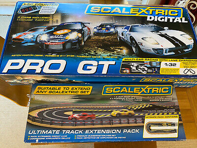 Scalextric PRO GT C1260 Digital Race Set + Ultimate Track Ext Pack. 5 Cars! • 299£