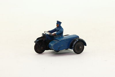 Dinky Toys 37b; Police Motorcyclist; Blue Rider, Black Cycle; V Good Unboxed • 14.99£