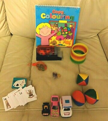 Mini Gifts Game Prizes! Torch Juggling Balls Slinky Friction Cars ++ • 5£