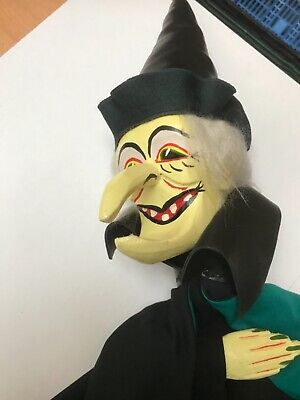 Supreme Magic Punch & Judy Wicked Witch Wooden Puppet Never Used • 110£