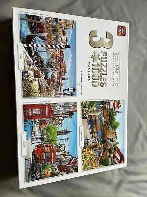 City Collection 3 X 1000 Piece Jigsaw Puzzles • 7.50£