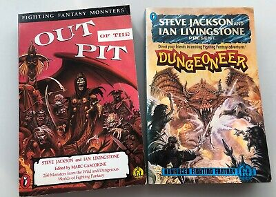 Dungeoneer & Out Of The Pit Fighting Fantasy RPG System - Long OOP. • 29.99£