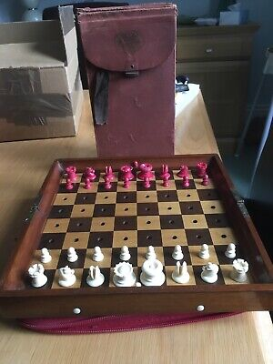 Jaques In Statu Quo Vintage Travel Chess Set • 375£