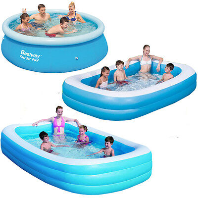 Bestway Large Paddling Garden Pool Kids Fun Family Swimming Outdoor Inflatable • 27.95£