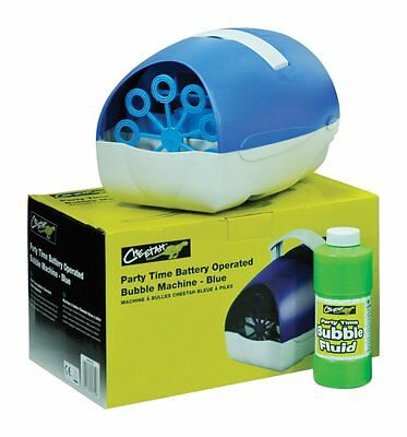 Battery Or Mains Large Blue Party Time Bubble Machine (up To150 Bubbles Per Min) • 918.99£