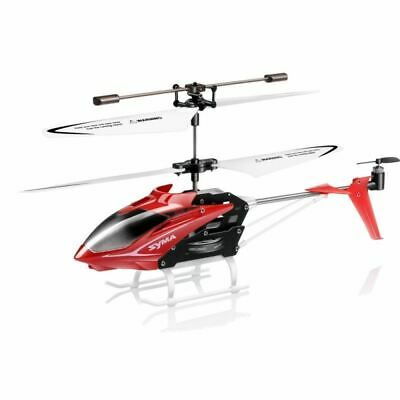 Syma S5 Red Mini RC Helicopter Infrared Radio Control 3 Channel Gyro Anti Shock • 14.99£
