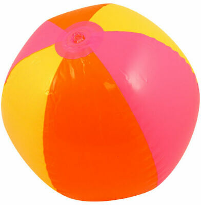 Inflatable Beach Ball 40cm - Seaside Holiday Pool Party Football • 2.49£