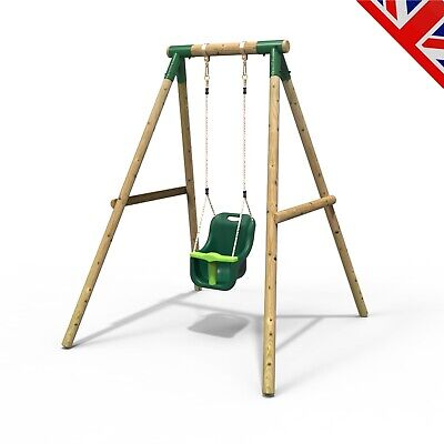 Rebo Pluto Baby Wooden Children's Garden Swing Set - Baby Swing • 159.95£