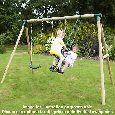 Rebo Kids Wooden Garden Swing Set Childrens Swings - 14 Styles & 3 Colours • 219.95£