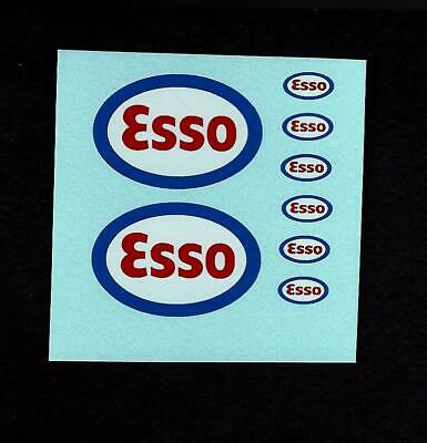 MATCHBOX TRANSFERS/DECALS - A1a ESSO PETROL PUMPS • 2£