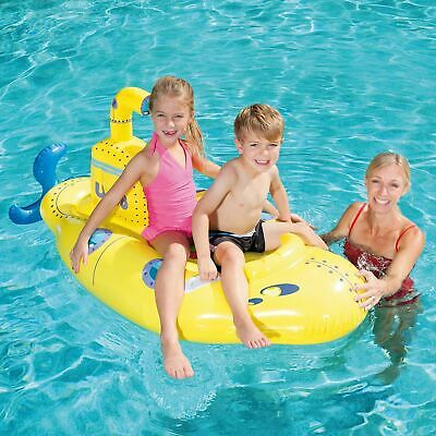 Bestway Inflatable Boat Float Ride-On Submarine Rider With Periscope - Yellow • 10.99£