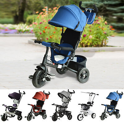 Kids Tricycle Trike Children Smart Toddler Ride On 3 Wheels Canopy Handle Safety • 73.99£