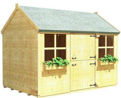 BillyOh 6x4 Gingerbread Junior Children Outdoor T&G Wooden Playhouse • 439£