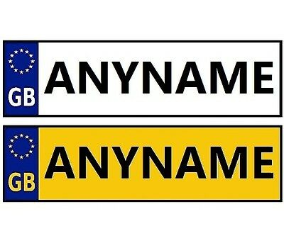 Childrens Personalised Number Plate Stickers For Kids Ride On Cars And Jeeps X 2 • 2.79£