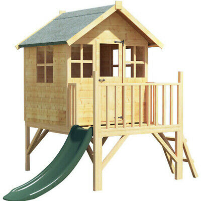 BillyOh Bunny Max Tower Playhouse Outdoor Garden Wooden Playhouse With Slide 4x4 • 485£