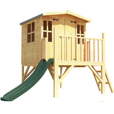 BillyOh Bunny Tower Playhouse Outdoor Garden Wooden Playhouse With Slide 4x4 • 474£