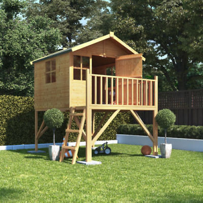 BillyOh 6ftx5ft Tower Children Wooden Playhouse Kids Outdoor With Slide • 665£
