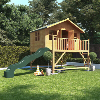 BillyOh 6ftx7ft Tower Wooden Playhouse Outdoor Playground With Slide • 885£