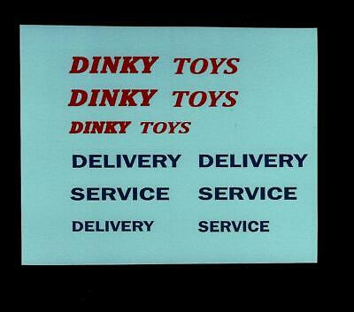 Dinky 582/982 Bedford Pullmore Car Transporter Transfers / Decals • 2.75£