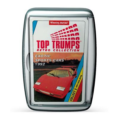 Exotic Sports Cars Retro Top Trumps Card Game • 4.99£