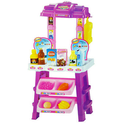 Kids Supermarket Shop Grocery Pretend Toy Trolley Playset Play Gift Educational • 119.95£