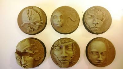 3* 40mm Round Face Bases For 40k , Kingdom Death ,Warhammer Age Of Sigmar • 3£