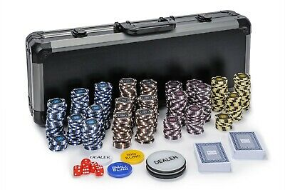 Pro Poker Chips Set - 14g 500 Piece Numbered Poker Set & Free Accessories • 99.99£