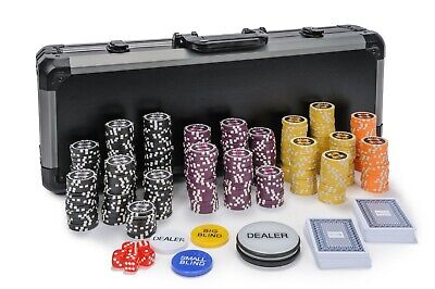 WPC Poker Chips Set - 500 Piece Numbered Poker Set W/ Free Accessories • 64.99£