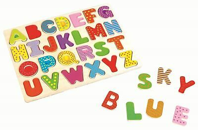 Lelin Letters Puzzle Board Wooden Uppercase Alphabet Learning For Children Kids • 6.99£
