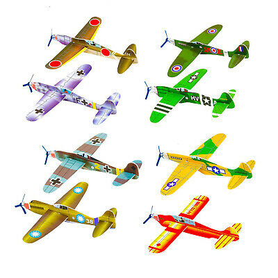 CHILDRENS WWII FLYING GLIDERS. Kids Toys- Party Bag Fillers Packs Of 1-48 • 1.36£