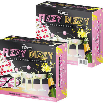 20pc Prosecco Fizzy Dizzy Party Game Drinking Ping Pong Glass Ball Xmas Fun New • 4.99£