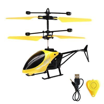 Mini Helicopter Induction Aircraft Remote Control RC Drone LED Toys Gifts • 8.99£