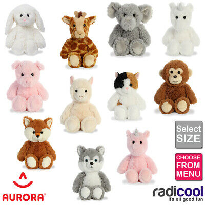 Aurora Cuddly Friends ALL SIZES PLUSH Cuddly Soft Toy Teddy Kids Gift Brand New • 6.79£